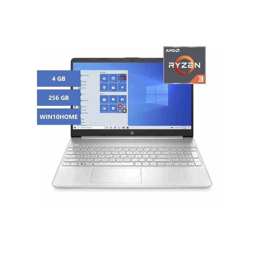PORTATIL HP 15-gw0017la AMD Ryzen 3 RAM 4GB SSD 256GB Plateado